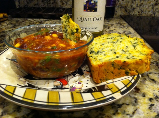 Chili and Spinach Cheddar Bread