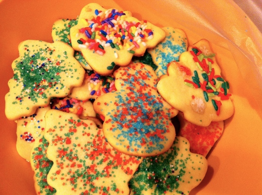 I can't really call these Christmas Cookies...I made them on New Year's Day.  Haha...better late than never.