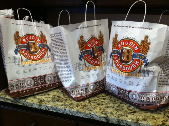Nothing better than bags full of San Francisco Sourdough Bread!!!