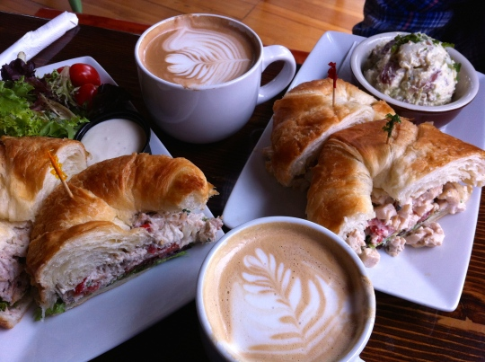 As long we are having coffee, might as well have a delicious sandwich to go with it!!